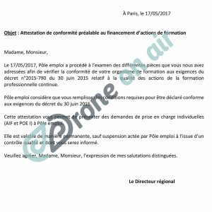 Certification qualite formation drone drone on air - Formation cuisine pole emploi ...