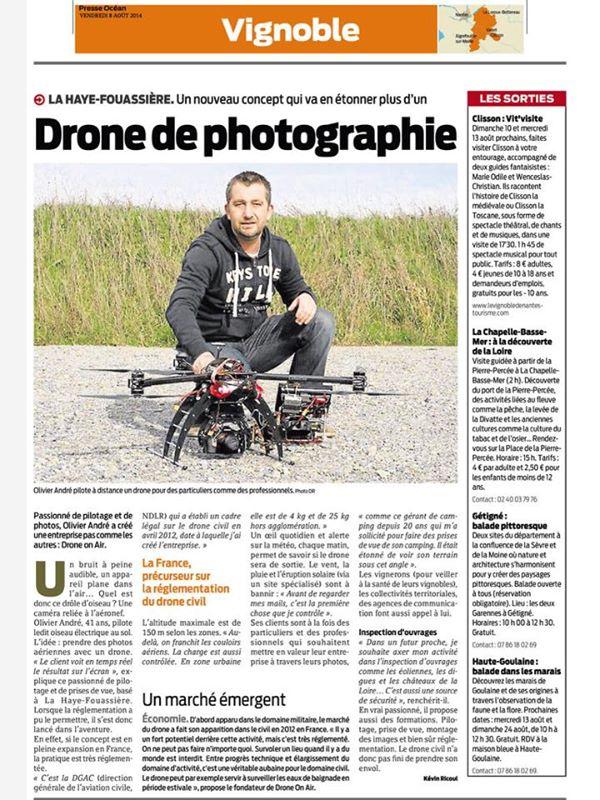 Drone prestation photo vidéo nantes